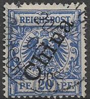 GERMANIA REICH UFFICI IN CINA 1897-1900   SOPRASTAMPATO YVERT. 4B USATO VF - Ufficio: Cina