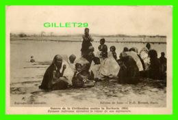 MILITARIA - GUERRE DE LA CIVILISATION CONTRE LA BARBARIE - ÉPOUSES INDIENNES ATTENDANT LE RETOUR DE NOS DÉFENSEURS - - Guerre 1914-18