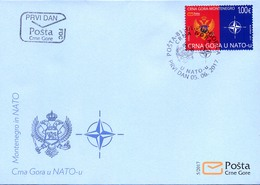 2017 FDC, Montenegro In NATO, Montenegro, MNH - Montenegro