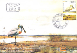 2017 FDC, Birds, Eurasian Spoonbill, Fauna, Montenegro, MNH - Montenegro