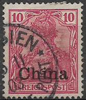 GERMANIA REICH UFFICI IN CINA 1900 SOPRASTAMPATO YVERT. 11  USATO VF - Bureau: Chine