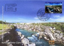 2017 FDC, Environmental Protection, Cijevna River, Montenegro, MNH - Montenegro