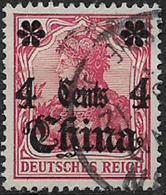 GERMANIA REICH UFFICI IN CINA 1905  SOPRASTAMPATO YVERT. 31  USATO VF - Bureau: Chine