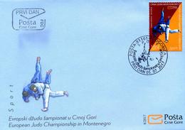 2017 FDC, Sports, European Judo Championship, Montenegro, MNH - Montenegro