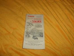 CARTE PLAN-GUIDE TOURISTIQUE DE VICHY EDITIONS MABYRE. VICHY. / DATE ?../ 10 EXCURSIONS EN AUVERGNE ET EN BOURBONNAIS.. - Cartes