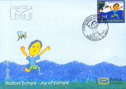 2017 FDC, Joy Of Europe, Children's Drawings, Montenegro, MNH - Montenegro