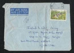 Malawi 1988 Air Mail Postal Used Aerogramme Cover Malawi To Pakistan Fish Animal  AS PER SCAN - Malawi (1964-...)
