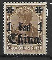 GERMANIA REICH UFFICI IN CINA 1905  SOPRASTAMPATO YVERT. 29 MLH VF - Bureau: Chine