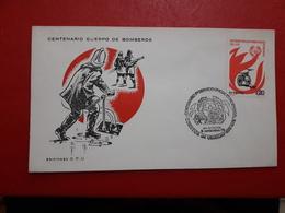 L'Uruguay FDC Des Pompiers - Uruguay