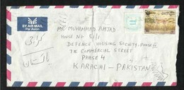 Bahrain  Air Mail Postal Used Cover  Bahrain To Pakistan WWF Deer Animal - Bahreïn (1965-...)