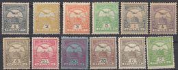 UNGHERIA - Lotto Di 12 Valori Nuovi MH: Yvert 37, 40, 72/77, 92, 93, 100 E 123 - Ungheria
