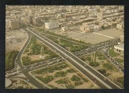 Saudi Arabia Old Picture Postcard Aerial View King Fahad Square Jeddah View Card - Arabie Saoudite