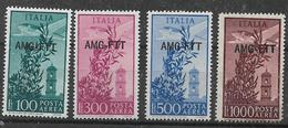 TRIESTE AMG-FTT. 1948  POSTA AEREA CAMPIDOGLIO  SASS. 13-16 MLH XF++++++++++++++++++++++ - 7. Trieste