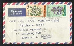 Malawi 1979 Air Mail Postal Used Cover Malawi To Pakistan  Flowers Flower - Malawi (1964-...)