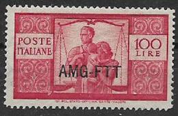 TRIESTE AMG-FTT. 1949-50 DEMOCRATICA  SASS. 67 MNH XF+++++++++++++++++++++++++++++ - 7. Trieste