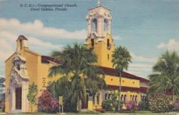 Florida Coral Gables Congregational Church 1945 Curteich - Miami