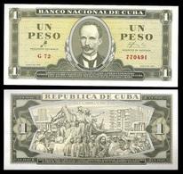 CUBA. Cuban Banknote Of Jose Marti Of 1 Peso With Signature Of Che Guevara. Havana. 1961. AUNC - Cuba