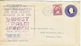 U.S. AIR  MAIL  COVER  FIRST  FLIGHT  FLORIDA  1937 - Air Mail