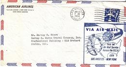 U.S. JET FIRST  FLIGHT  COVER  L.A.  TO  N.Y.  1959 - Air Mail
