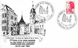 CONFLANS EN JARNISY - 1ère Foire à La Carte Postale 22-23 Mai 1982 - Bourses & Salons De Collections