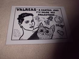 7e Salon Des Collections...valreas 1989 ..signe J. Lardie (47 Sur 500ex) - Bourses & Salons De Collections
