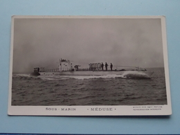 """"""" Méduse """" Sous-Marin ( Marius Bar Toulon ) - Anno 19?? ( Voir Photo Details ) ! - Sous-marins"""