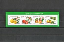 AZERBAIJAN-2000.  INPERFORATED SHEET.AZERBAIJAN FRUITS-2000 - Azerbaïjan