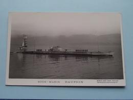 """"""" DAUPHIN """" Sous-Marin ( Marius Bar Toulon ) - Anno 19?? ( Voir Photo Details ) ! - Sous-marins"""