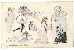 XAVIER SAGER ILLUSTRATEUR LES PECHES CAPITAUX LA LUXURE 1920 CPA 2 SCANS - Sager, Xavier