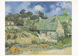 Art - Vincent Van Gogh - Thatched Cottages At Cordeville, 1890, Musée D'Orsay, Paris, France - Pintura & Cuadros