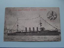 """Le Croisseur Anglais """" ANTRIM """" à Anvers - Juillet 1906 (V0-DW) - Anno 1906 ( Voir Photo Details ) ! - Krieg"""