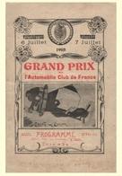 Car Automobile Grand Prix Postcard Dieppe 1908 - Reproduction - Publicité