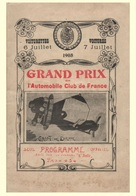 Car Automobile Grand Prix Postcard Dieppe 1908 - Reproduction - Advertising