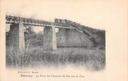 DAHOMEY  LE PONT DU CHEMIN DE FER SUR LE ZOU - TRAIN - Dahomey