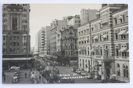 Rissik Street, Johannesburg, South Africa, Old Real Photo Postcard - South Africa