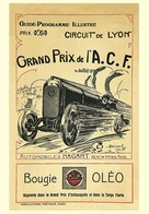 Car Automobile Grand Prix Postcard Lyon ACF 1914 - Reproduction - Publicité