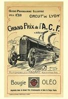 Car Automobile Grand Prix Postcard Lyon ACF 1914 - Reproduction - Advertising