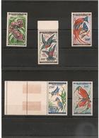 TCHAD  Oiseaux  Années 1961/63  P.A. N° Y/T : 2/6**   Côte :36,60 € - Tchad (1960-...)