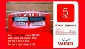 ITALIA - Scheda - Ricarica Telefonica WIND - Usata - Noi Wind SMS - Cassetta Postale - 5 - Vedi Scansioni - Schede GSM, Prepagate & Ricariche