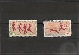 TCHAD  Peintures Rupestres  Année 1967  P.A. N° Y/T : 42/43** - Tchad (1960-...)