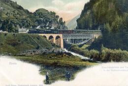 Suisse - Tessin - Airolo - Eisenbahnbrucke Und Tunnel In Der Stalvedroschiucht - TI Tessin