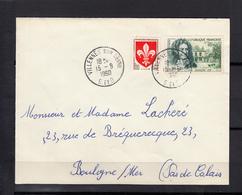 Nicolas BOILEAU  20c+10c + Blason LILLE 5c En Complement Sur Lettre De VILLENNES Le 15 9 1960 - France