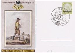 Lothringen 1941: Ganzsache P3, Tag Der Briefmarke - Occupation 1938-45