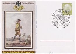 Elsass: Ganzsache Tag Der Briefmarke 1941, Kolmar - Occupation 1938-45