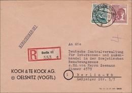 Brief Aus Berlin An Zentralverwaltung Interzonenhandel Mit Der SBZ 1948 - Zone AAS