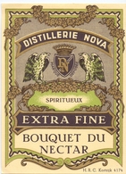 Etiket Etiquette - Vin - Wijn - Distillerie Nova - Bouquet Du Nectar - Kortrijk - Etiquettes
