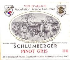 Etiket Etiquette - Vin - Wijn - D'Alsace - Schlumberger - Pinot Gris - Riesling