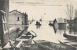 X120407 VAL DE MARNE ALFORTVILLE INONDATIONS JANVIER 1910 ILE SAINT PIERRE SUBMERGEE CRUE CATASTROPHE NATURELLE - Alfortville