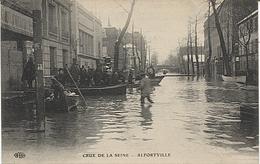 X120409 VAL DE MARNE ALFORTVILLE INONDATIONS JANVIER 1910  CRUE DE LA SEINE CATASTROPHE NATURELLE - Alfortville