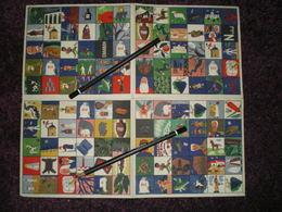 Jeu De LOTO.Illustration R.PEYNET.12 Buvards Géographie-Histoire,1 Planche De 120 Cases. Exposition Coloniale 1931 - Blotters